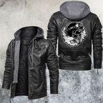 Smoking Skull Biker Leather Jacket