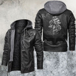 Hourglass and Flowers Leather Jacket