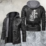 Cross And Skull Bound By Faith Leather Jacket