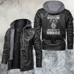 Who Lives Without Discipline Dies Without Honor Leather Jacket