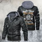 Yes, I'm A Welder Skull Motorcycle Leather Jacket