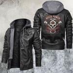 House Power Gear Skull Leather Jacket