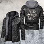 Motorcycle Club Leather Sign Of Time Leather Jacket