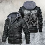 Sons Of Vikings Motorcycle Rider Leather Jacket