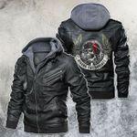 Biker Enthusiast Skull Motorcycle Leather Jacket