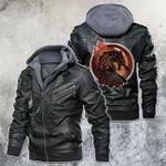 Mythology Norse Creature Fenrir Motorcycle Rider Leather Jacket