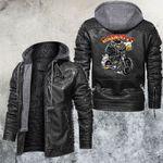 Bad Boy With Motorcycle Leather Jacket