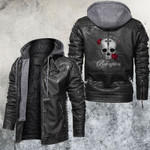Skull And Rose Redemption Leather Jacket