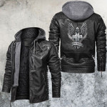 Rise Above Cross Leather Jacket