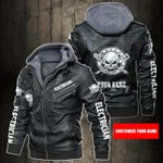 Personalized Name I Am Electrician Leather Jacket