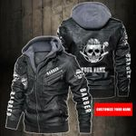 Personalized Name I Am Barber Leather Jacket