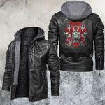 Red Skull Knuckle Leather Jacket