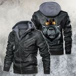 Fear The King Bear Motorcycle Leather Jacket