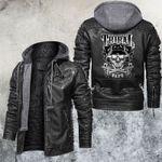 Smoking Skull Leather Jacket