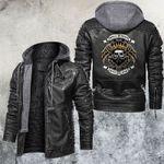 Golden Hell Rider Skull Leather Jacket