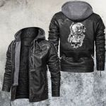 Beauty But Deadly Skull and Rose Leather Jacket