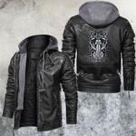 Zodiac Aquarius Motorcycle Club Leather Jacket