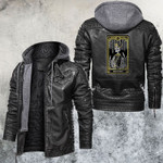 The King Of Rings Tarot Card Leather Jacket