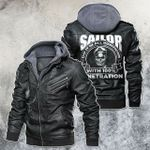 Sailor Do It In All Position With 100% Penetration Skull Leather Jacket