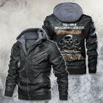 Yes, I'm A Woodworker Skull Motorcycle Leather Jacket
