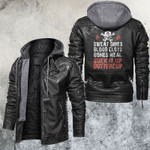 Suck It Up Butter Cup Skull Leather Jacket