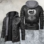 Vaping Life Style Skull Leather Jacket