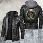 Hollow Victory Motorcycle Club Leather Jacket