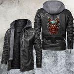 Tri-demon Skull Leather Jacket