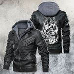 Gambling Of Death Motorcycle Rider Leather Jacket
