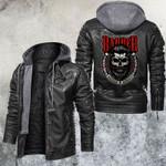 LA Babber Skull Leather Jacket
