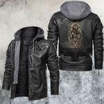 Zodiac Leo Motorcycle Club Leather Jacket