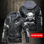 Personalized Name Plumber Skull Leather Jacket
