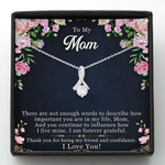 Mother day gift, gift for mom, There are not enough words to describe how important you are in my life