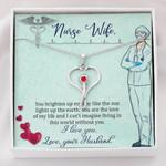 Stethoscope Necklace Nurse wife I love you