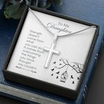 Cross Necklace for Daughter: Strength