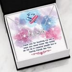 Scripted Love Necklace for Best Friend Thanks for touching my life