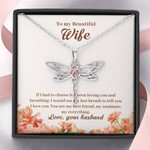 Dragonfly Necklace for Wife my best friend, my soulmate, my everything