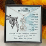 Giraffe Necklace for Mom I'm what I'm today because of you