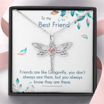 Dragonfly Necklace My Best friends are like Dragonfly