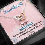 Interlocking Hearts Necklace Sweetheart Happy Birthday