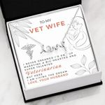 Scripted Love Necklace Vet Wife Living the dream