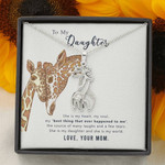 Giraffe Necklace for Daughter Best thing that ever happened to me
