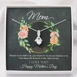 Alluring Beauty Necklace I love you Happy Mother's Day