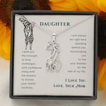 Giraffe Necklace for Daughter I Love you