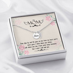 Mom Remembrance Necklace From my heart you're never gone