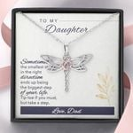 Dragonfly Necklace for Daughter: Tip toe if you must, but take a step