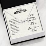 Scripted Love Necklace Daughter I'll always be with you