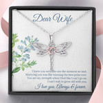 Dragonfly Necklace for Wife: can't wait to grow old with you