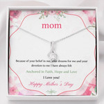 Alluring Beauty Necklace Mom Anchored in faith, hope, love