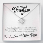 Love Knot Necklace Never forget that I love you